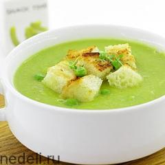 Крем-суп из зелёного горошка и сельдерея
