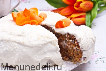 Морковный торт в мультиварке на разрез