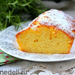 Влажный апельсиновый кекс на разрез