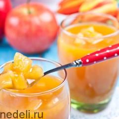 Мультифруктовый кисель с яблоками