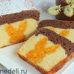 Пасхальный трехцветный кекс с сюрпризом
