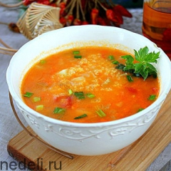 Суп с пшенкой подача