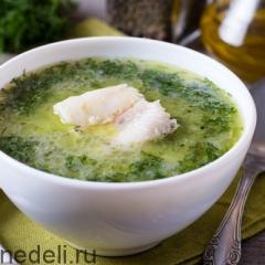 Укропный суп с морской рыбой