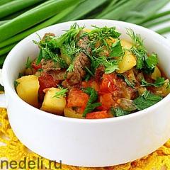 Венгерский суп-гуляш с картофелем