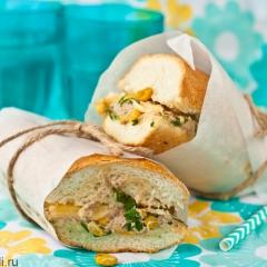 Сэндвичи с тунцом и кукурузой
