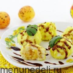 Творожные шарики с абрикосами