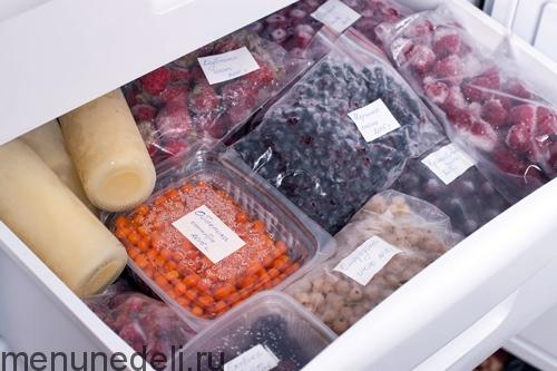 Zamorozka produktov-jagodnyj otdel