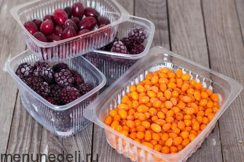 Zamorozka produktov-jagody