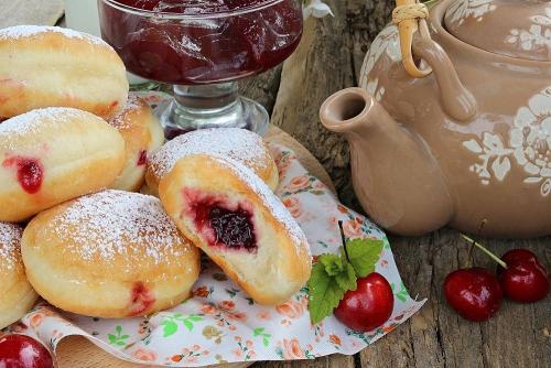 берлинские пончики рецепт с фото