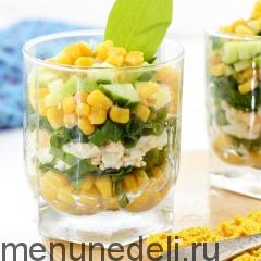 Салат из кукурузы и щавеля