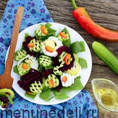 Салат со свеклой и щавелем
