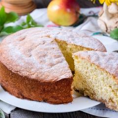 Шарлотка с яблоками и тесто для шарлотки