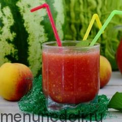 Арбузно-персиковый смузи