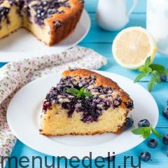 Лимонный пирог с черникой