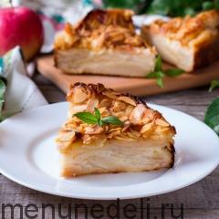 """""""Невидимый"""" яблочный пирог кусочек разрез"""