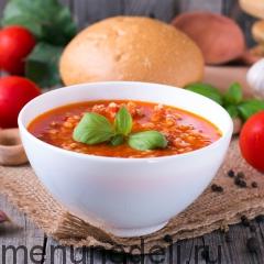 Густой томатный суп с булгуром