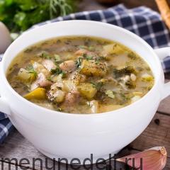 Суп из кабачков с грибами и картофелем
