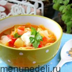 Суп из овощей как в детском саду