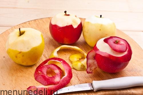 Запеченное яблоко с медом и корицей калорийность