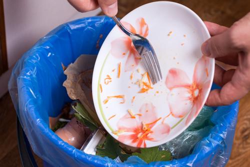 udalit' ostatki edy s tarelki-posudomoechnaja mashinka