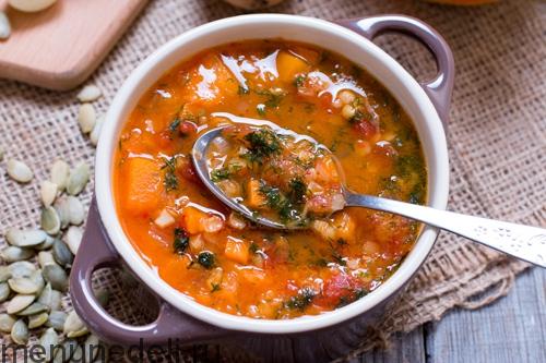 Тыквенно-чечевичный суп-пюре, пошаговый рецепт с фото