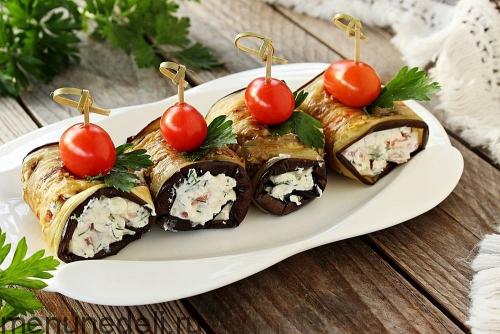 Холодные закуски с фотографиями из баклажанов