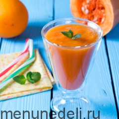 Смузи из тыквы и апельсина