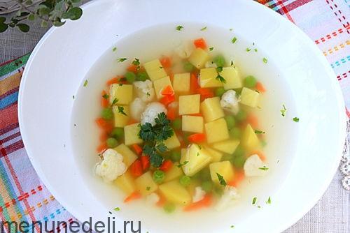 суп с сухариками как в детском саду рецепт