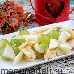 Салат фруктовый как в детском саду подача