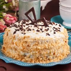 """Домашний торт """"Сметанник"""" - классический рецепт подача"""