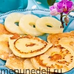 Блинчики с ананасовым припеком
