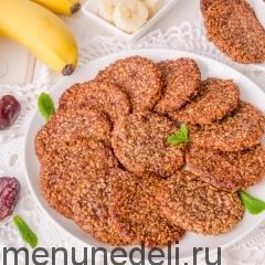 Постное кокосово-банановое печенье