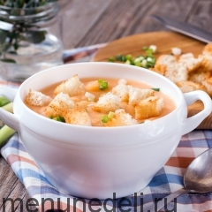 Суп-пюре из топинамбура подача