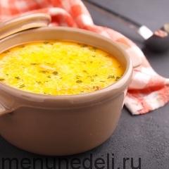 Сырный суп с семгой в мультиварке