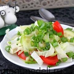 Салат из свежих овощей с растительным маслом как в детском саду