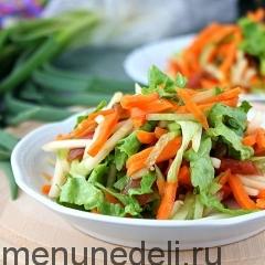 Салат из свежих овощей с яблоками как в детском саду