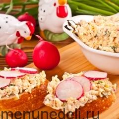 Весенняя закуска с редисом