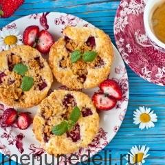Мини-пироги с клубникой