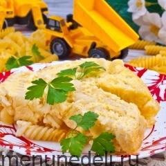 Изделия макаронные отварные, запеченные с яйцами, как в детском саду