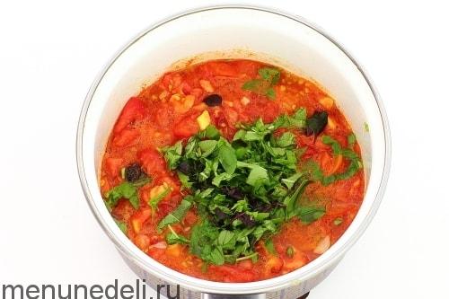 Жареный болгарский перец в томатном соусе на сковороде - рецепт пошаговый с фото