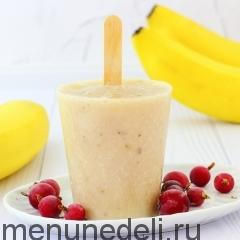 Кефирное мороженое с бананом