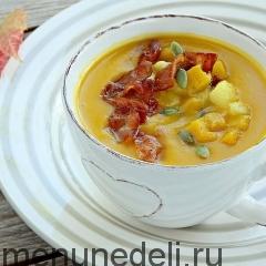 Тыквенный суп-пюре с яблоками