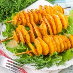 Картофельные спирали в духовке