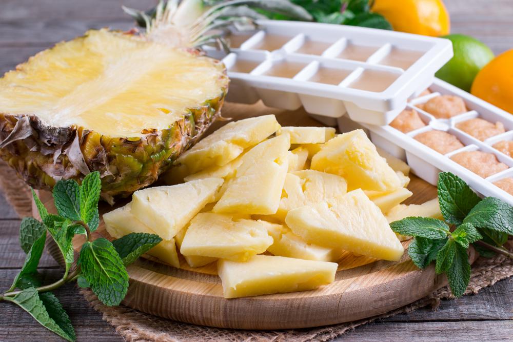 Как заморозить ананас