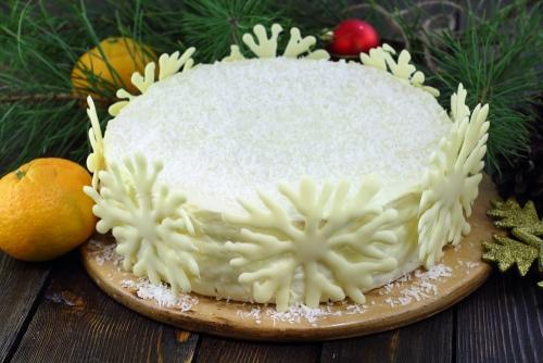 """Торт """"Зима"""" подача"""