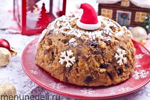 Готовый рождественский пудинг