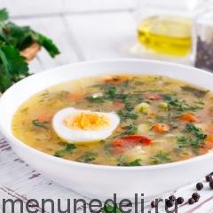 Суп из замороженных овощей и бурого риса