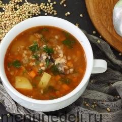 Гречневый суп с рыбными консервами