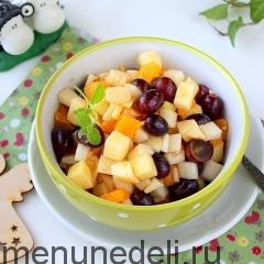 Салат фруктовый с сиропом как в детском саду