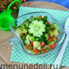 Салат из картофеля с зеленым горошком как в детском саду